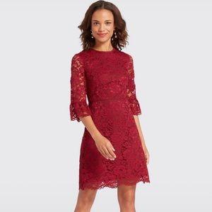 NWT Draper James Lace Bell-Sleeve Dress